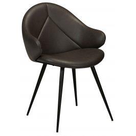 DAN-FORM Tmavě šedá čalouněná jídelní židle DanForm Manta