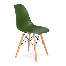 Culty Gold Lahvově zelená plastová jídelní židle DSW