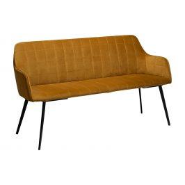 DAN-FORM Hořčicová sametová lavice DanForm Embrace