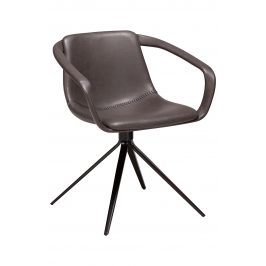 DAN-FORM Šedá čalouněná jídelní židle DanForm Jomo