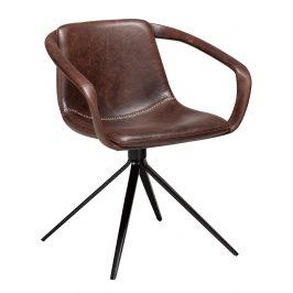 DAN-FORM Hnědá čalouněná jídelní židle DanForm Jomo