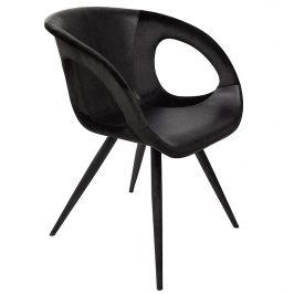 DAN-FORM Černá čalouněná jídelní židle DanForm Omega
