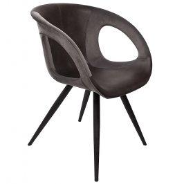 DAN-FORM Šedá čalouněná jídelní židle DanForm Omega