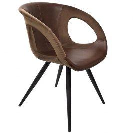 DAN-FORM Hnědá čalouněná jídelní židle DanForm Omega