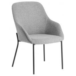 Světle šedá čalouněná jídelní židle LaForma Fracta