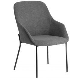 Tmavě šedá čalouněná jídelní židle LaForma Fracta