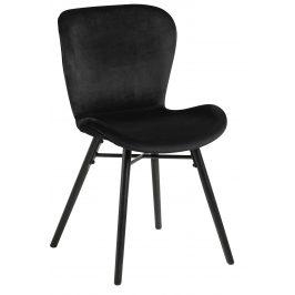SCANDI Černá sametová jídelní židle Matylda