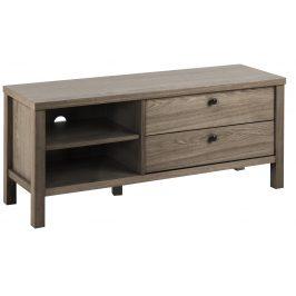 SCANDI Tmavě hnědý dubový TV stolek Urien 120 x 37 cm