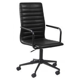 SCANDI Černá čalouněná konferenční židle Aqua