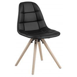 SCANDI Černá čalouněná jídelní židle Aurora