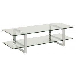 SCANDI Skleněný TV stolek Divo 120x45 cm