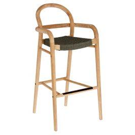 Zelená dřevěná zahradní barová židle LaForma Sheryl 110 cm