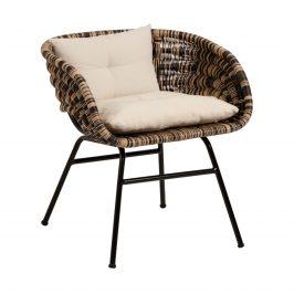 Černohnědá ratanová jídelní židle LaForma Lin