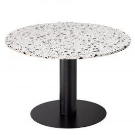 Šedý terazzo kulatý jídelní stůl RGE Pepo Ø 105 cm