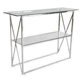 Stříbrný skleněný toaletní stolek RGE Cross 110 x 35 cm