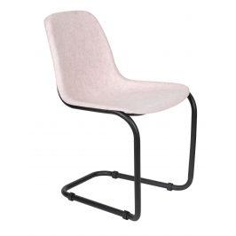 Starorůžová plastová jídelní židle ZUIVER THIRSTY