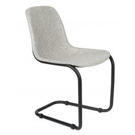 Světle šedá plastová jídelní židle ZUIVER THIRSTY