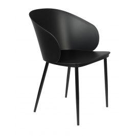 White Label Living Černá plastová jídelní židle WLL Gigi