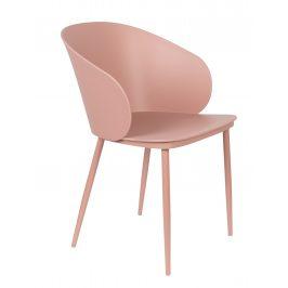 White Label Living Růžová plastová jídelní židle WLL Gigi