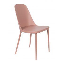 White Label Living Růžová plastová jídelní židle WLL Pip