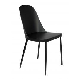 White Label Living Černá plastová jídelní židle WLL Pip