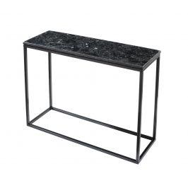 Černý žulový odkládací stolek RGE Accent s černou podnoží 100 cm