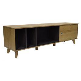 Přírodní dřevěný TV stolek RGE Ohio 160 x 40 cm