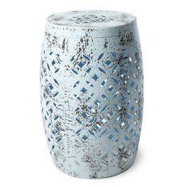 Světle modrá kovová stolička RGE Nour