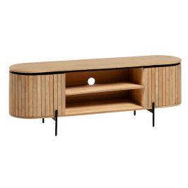 Dřevěný TV stolek LaForma Licia s motivem žebrování 160 x 43,5 cm