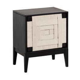 Černý dřevěný noční stolek LaForma Shami 50 x 35 cm