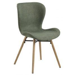 SCANDI Lahvově zelená jídelní židle Matylda