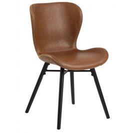 SCANDI Vintage hnědá čalouněná jídelní židle Matylda