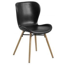 SCANDI Vintage černá čalouněná jídelní židle Matylda