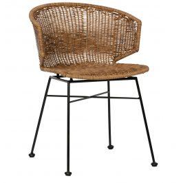 Hoorns Přírodní ratanová jídelní židle Janet