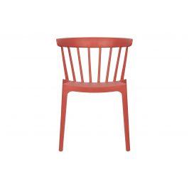 Hoorns Melounově červená plastová jídelní židle Marbel