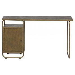 Hoorns Mosazný kovový pracovní stůl Johny 130 x 50 cm