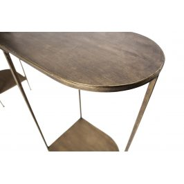 Hoorns Mosazný kovový toaletní stolek Gibon 145 x 30 cm