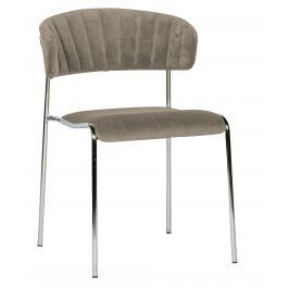 Hoorns Šedá sametová jídelní židle Jolie