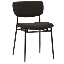 Hoorns Antracitová manšestrová jídelní židle Camilla