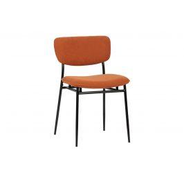 Hoorns Oranžová manšestrová jídelní židle Camilla