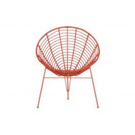 Hoorns Melounově červené zahradní lounge křeslo Jenny