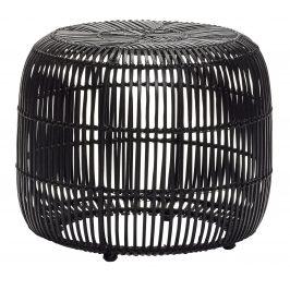 Černá ratanová stolička Hübsch Tabitha