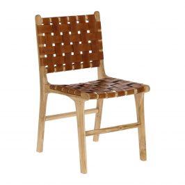 Přírodní jídelní židle s kůží LaForma Calixta