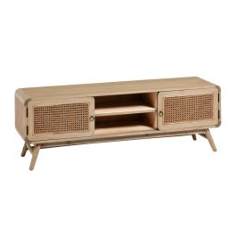 Přírodní dřevěný TV stolek LaForma Nalu 150 x 40 cm