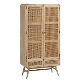 Přírodní dřevěná skříň LaForma Nalu 90 x 40 cm