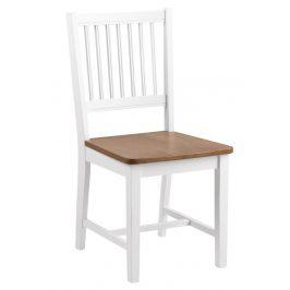 SCANDI Bílá dřevěná jídelní židle Frisbe