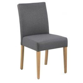 SCANDI Šedá čalouněná jídelní židle Dunai