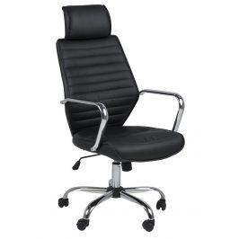 SCANDI Černá čalouněná kancelářská židle Edua