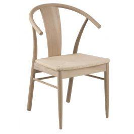 SCANDI Přírodní dřevěná jídelní židle Vega s pleteným sedákem