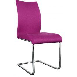 Moebel Living Růžová čalouněná jídelní židle Gilmore